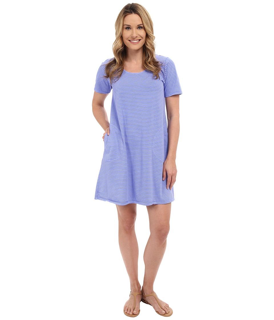 Fresh Produce Pinstripe Allure T Shirt Dress Peri Blue Womens Dress