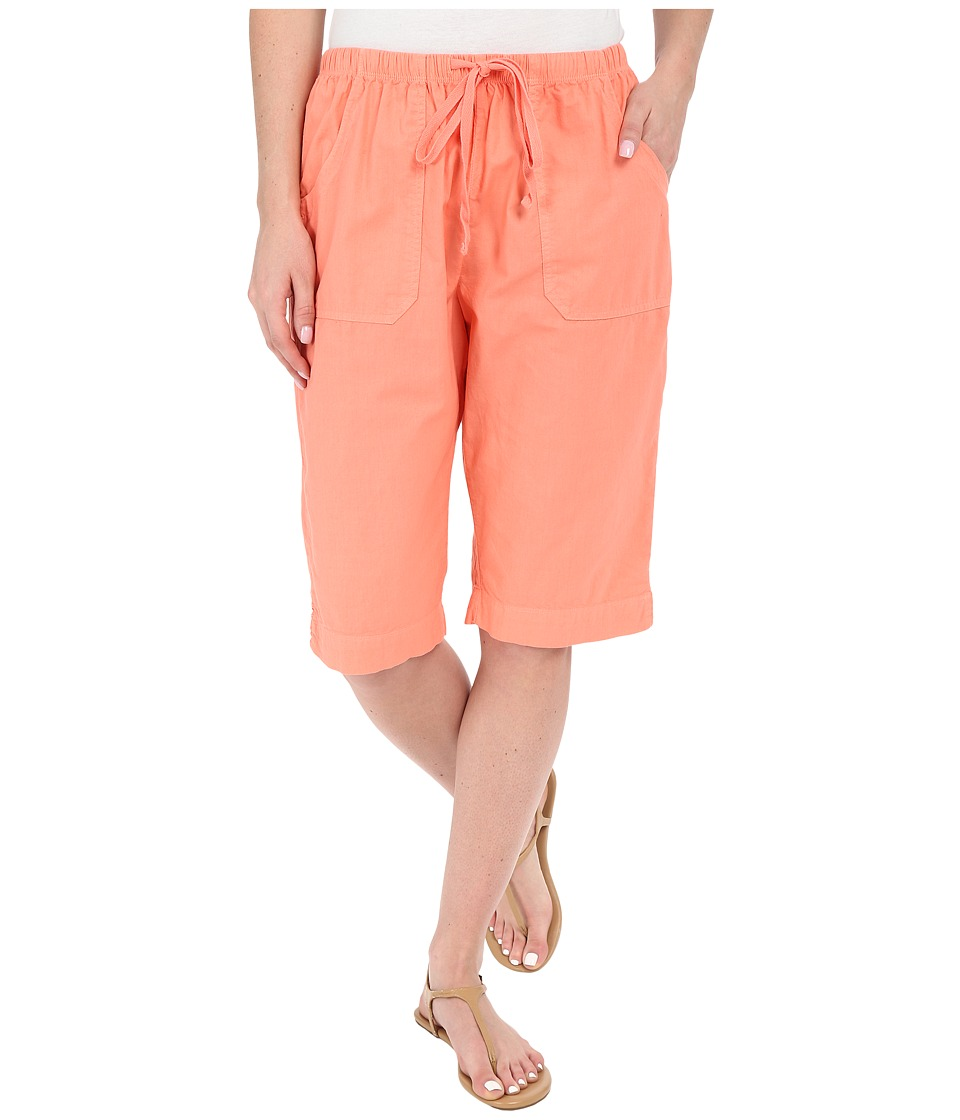 Fresh Produce Park Avenue Pedal Pusher Melon Sherbet Womens Shorts
