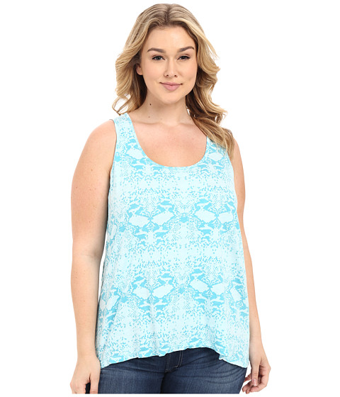 Fresh Produce - Plus Size Gecko Crossback Tank Top (Swimming Pool) Women's Sleeveless