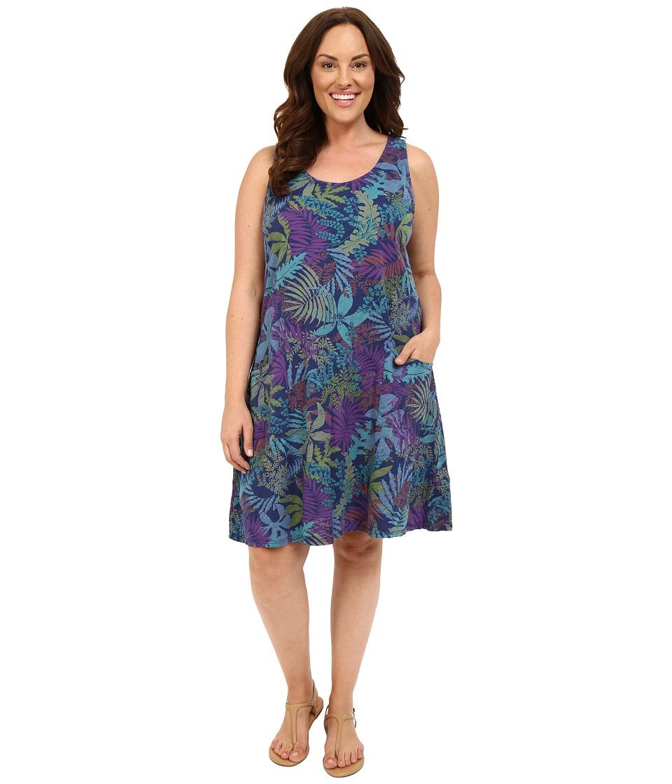 Fresh Produce Plus Size Vintage Palm Drape Dress Moonlight Womens Dress