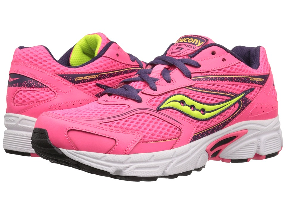 Saucony Kids - Cohesion 9 LTT (Little Kid) (Coral/Pink/Blue) Girls Shoes