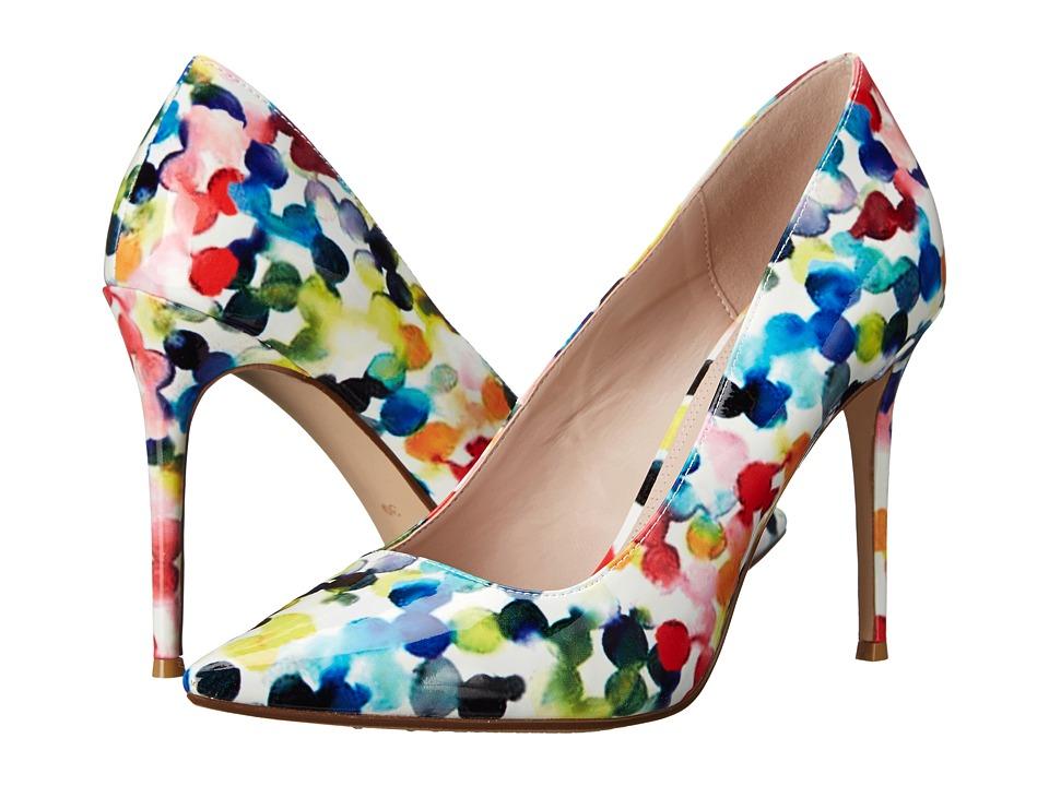 Dune London Blosome Multi Watercolor Patent Womens Shoes