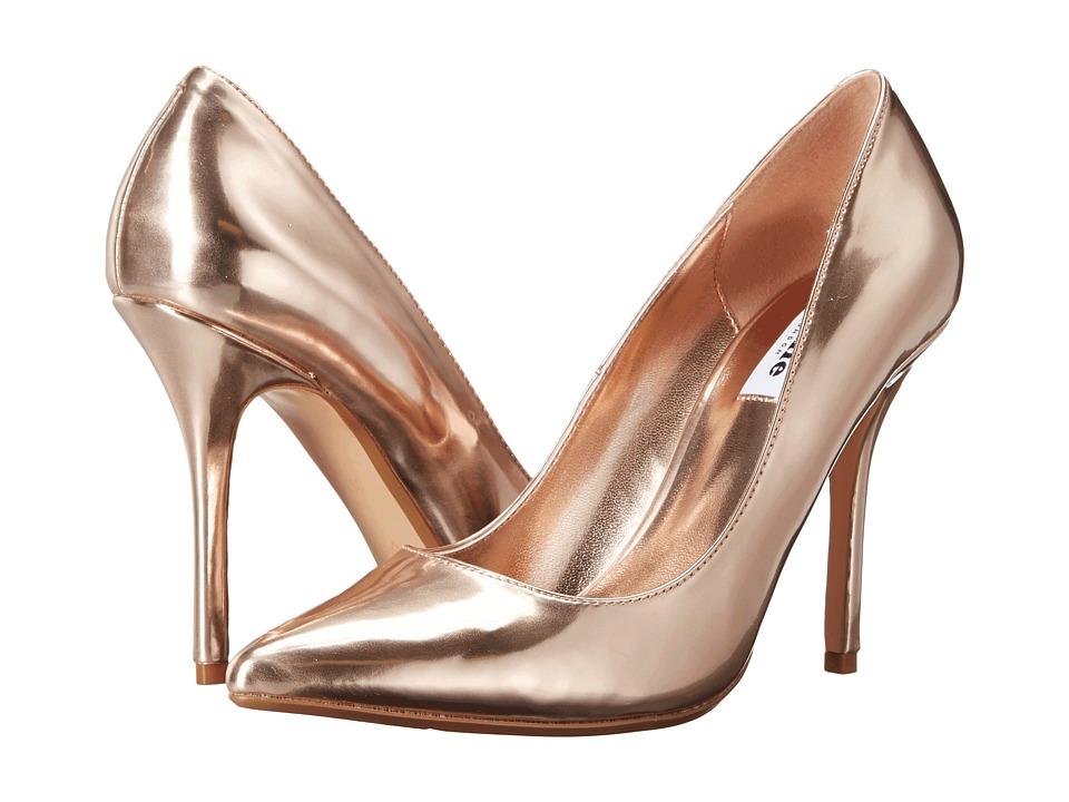 Dune London Burst Rose Gold Leather High Heels