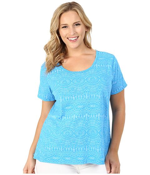 Fresh Produce - Plus Size Tribal Luna Top (Marina) Women's Clothing