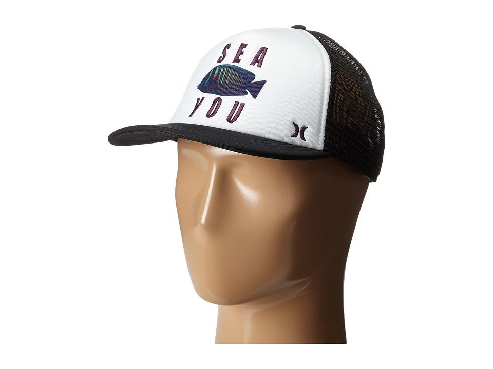 Hurley Printed Trucker Hat White B Caps