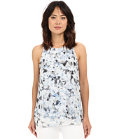 Vince Camuto - Sleeveless Broken Prism Mix Media Blouse