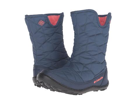 Columbia Kids Minx™ Slip Omni-Heat™ Waterproof Boot (Little Kid/Big Kid) - Dark Mountain/Melonade