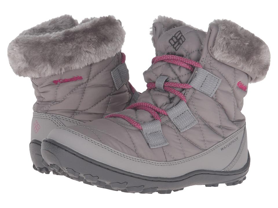 Columbia Kids Minx Shorty Omni-Heat Waterproof (Little Kid/Big Kid) (Light Grey/Deep Blush) Kids Shoes