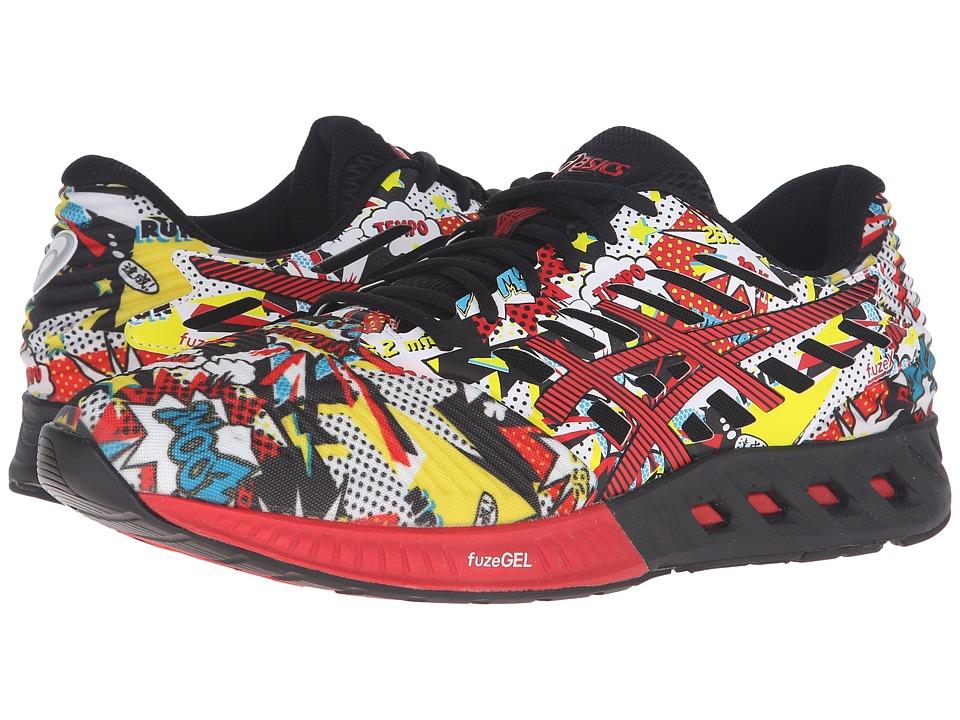 ASICS - FuzeX (Black/Vermilion/White) Mens Running Shoes