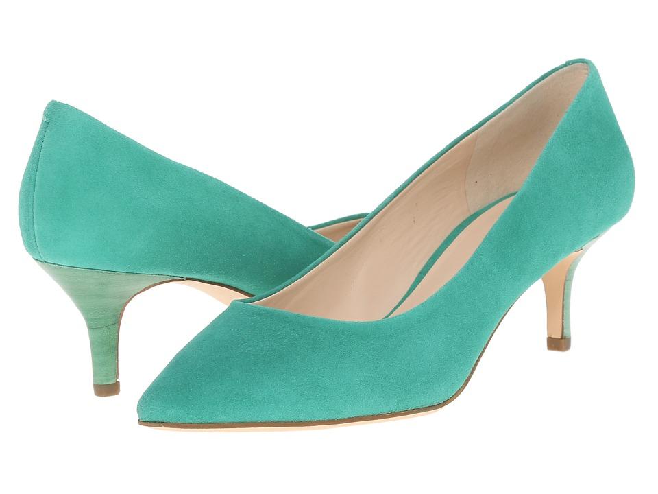 Nine West Xeena Green Suede Womens 1 2 inch heel Shoes