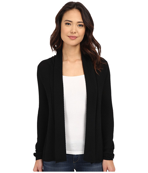 Christin Michaels Wave Stitch Cashmere Cardigan