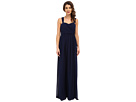 Donna Morgan Bailey Draped Side Strapped Gown (Midnight)
