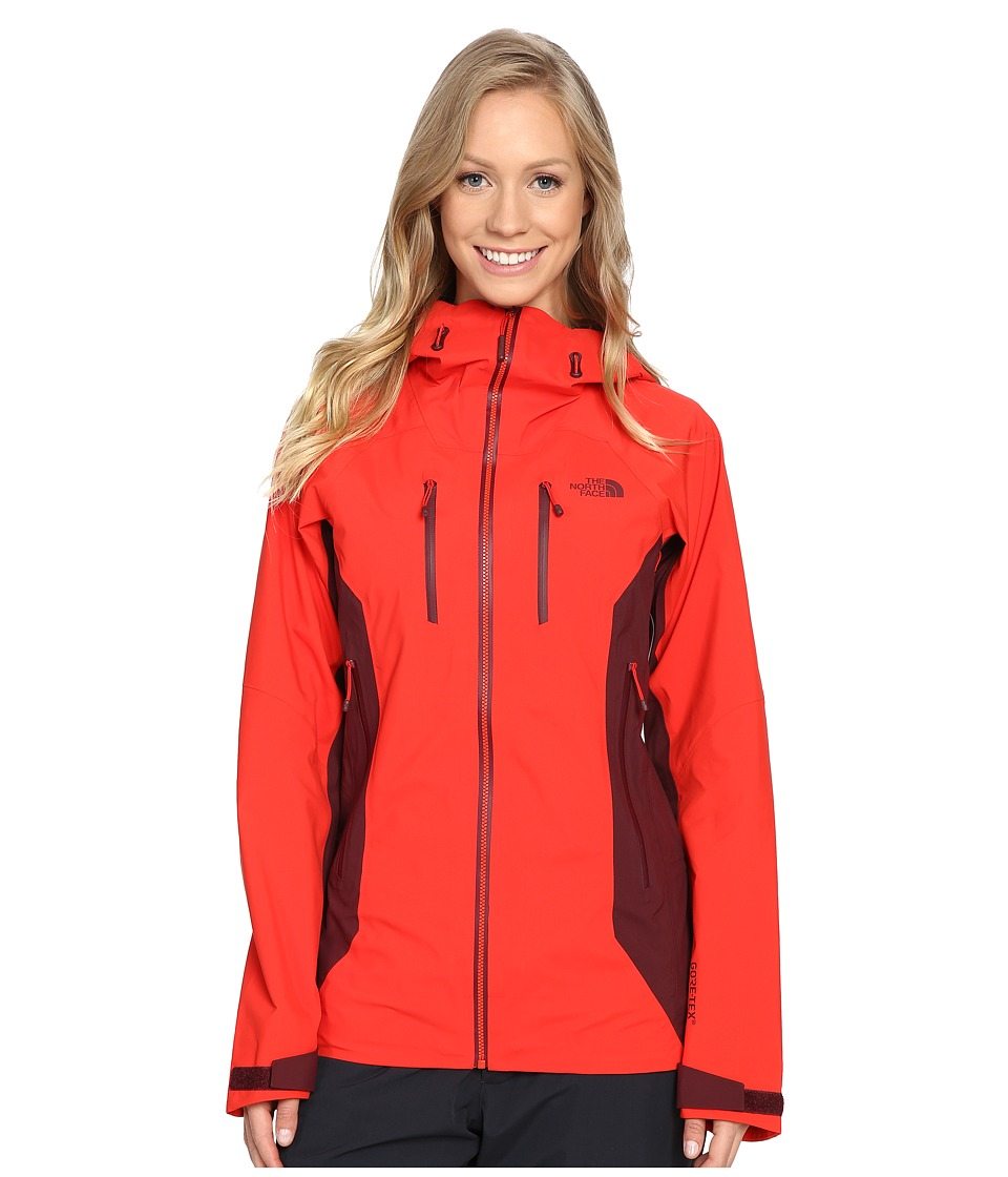 North Face Dihedral Shell Jacket (High Risk Red/Deep Garn...