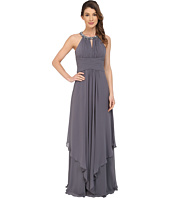 Donna Morgan - Siena Beaded Halter Long Gown Dress
