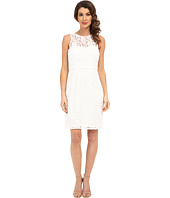 Donna Morgan - Harlow Illusion Neck Lace Short Dress