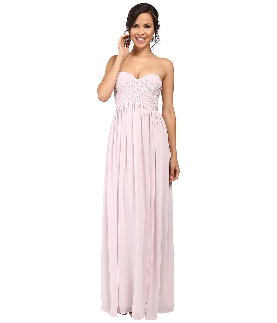 Donna Morgan Laura Long Chiffon Gown Dress (Palest Pink) Women
