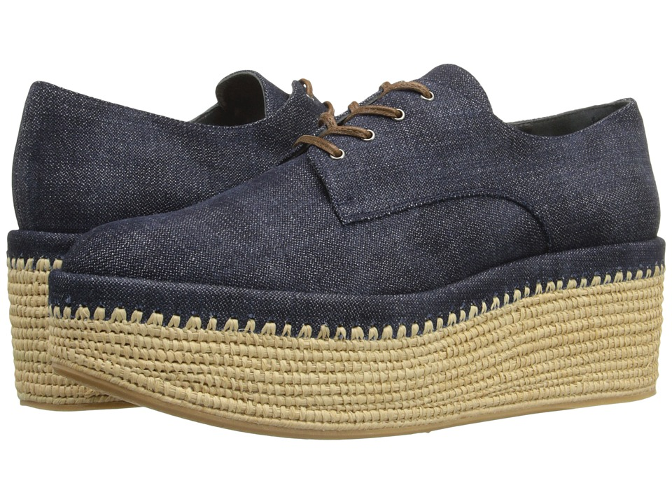 Stuart Weitzman Kent Navy Antique Denim Womens Shoes
