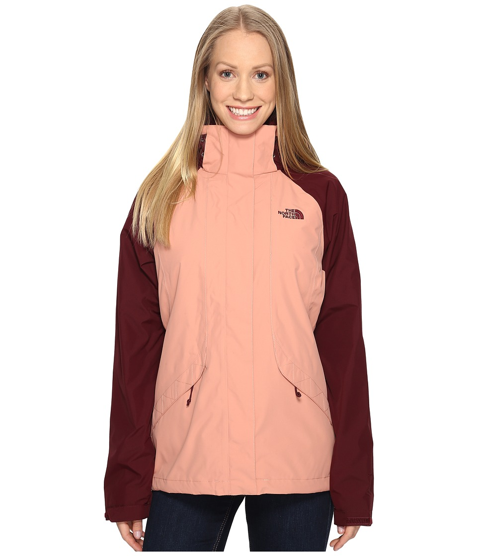 The North Face Boundary Triclimate Jacket (Rose Dawn/Deep Garnet Red) Women