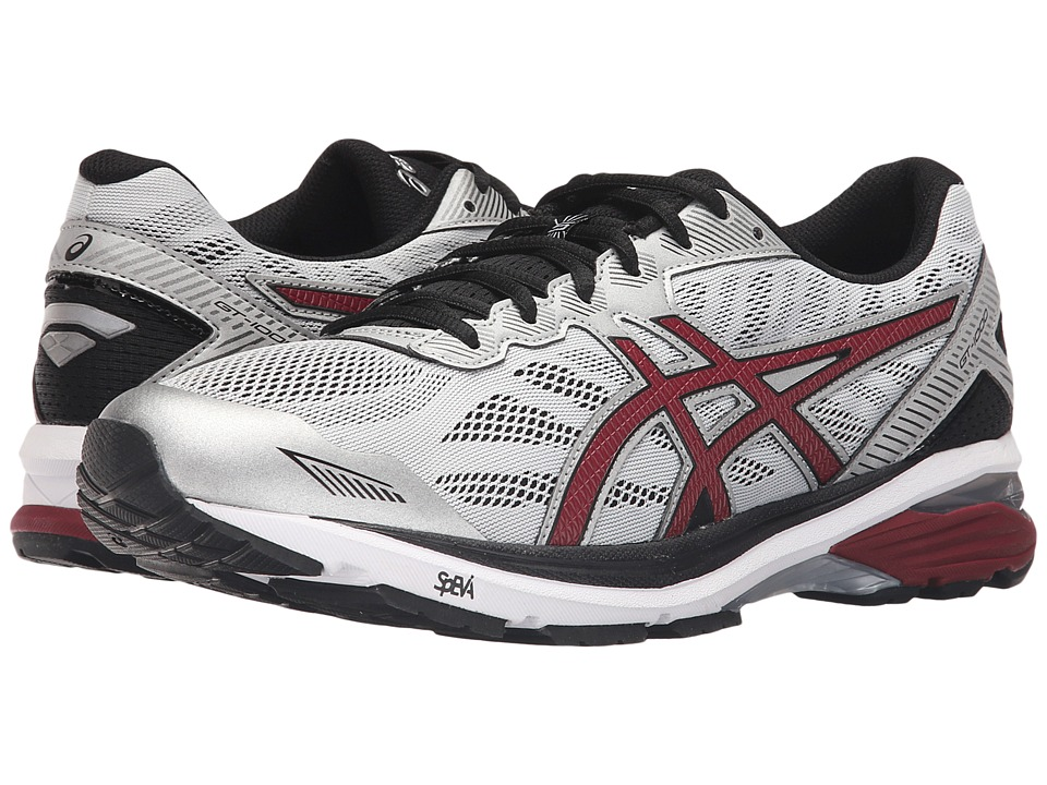 ASICS - GT-1000 5 (Glacier Gray/Pomegrante/Black) Mens Running Shoes
