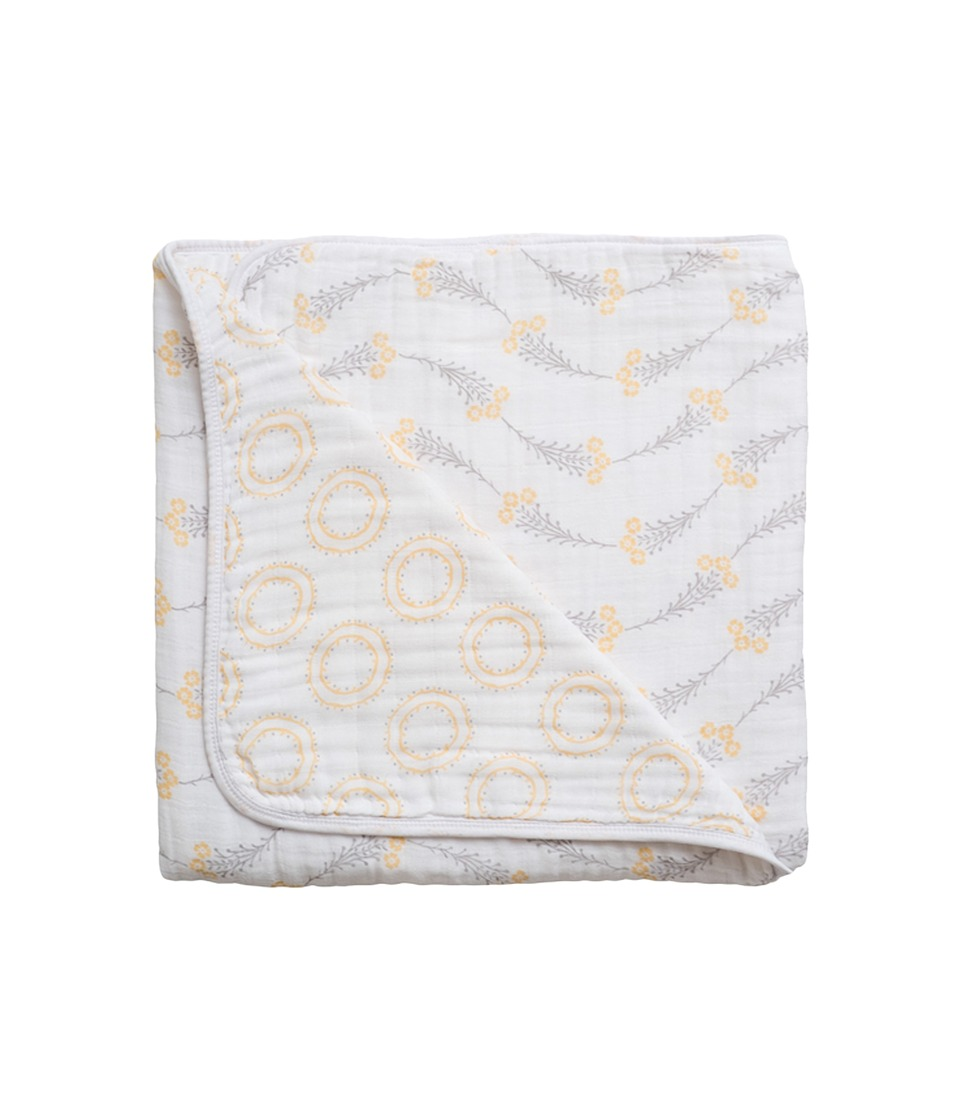 Bebe au Lait - Muslin Snuggle Blanket (Wildflower/Halo) Accessories Travel
