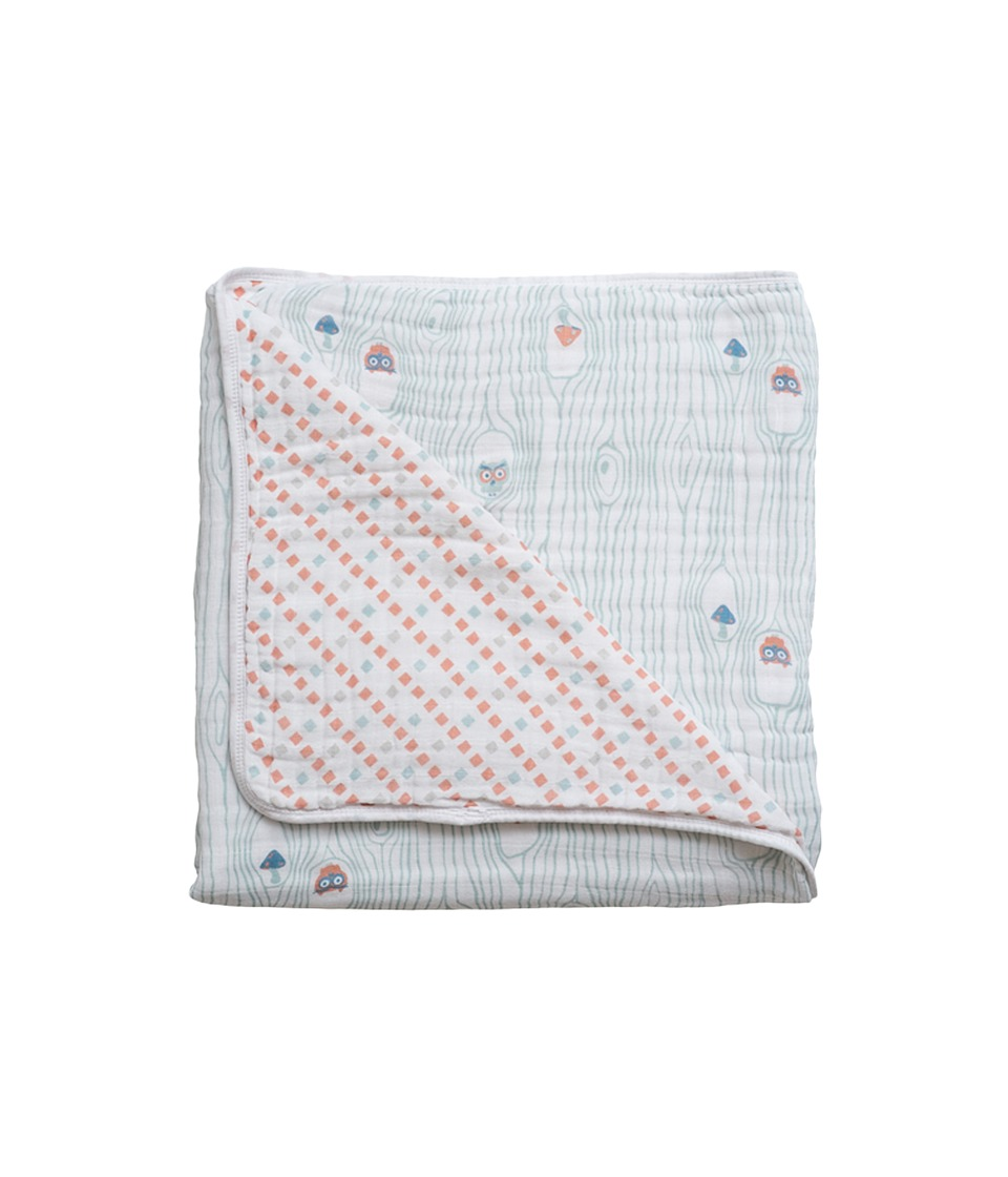 Bebe au Lait - Muslin Snuggle Blanket (Owl/Tinsley) Accessories Travel