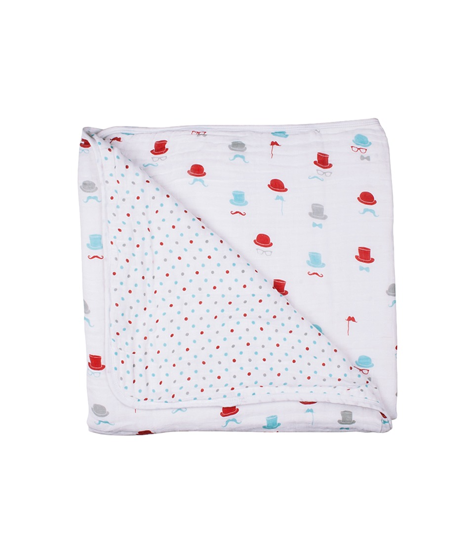 Bebe au Lait - Muslin Snuggle Blanket (Bowler/Polka) Accessories Travel