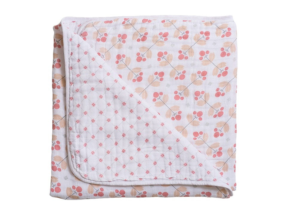 Bebe au Lait - Muslin Snuggle Blanket (Dewberry/Lattice) Accessories Travel