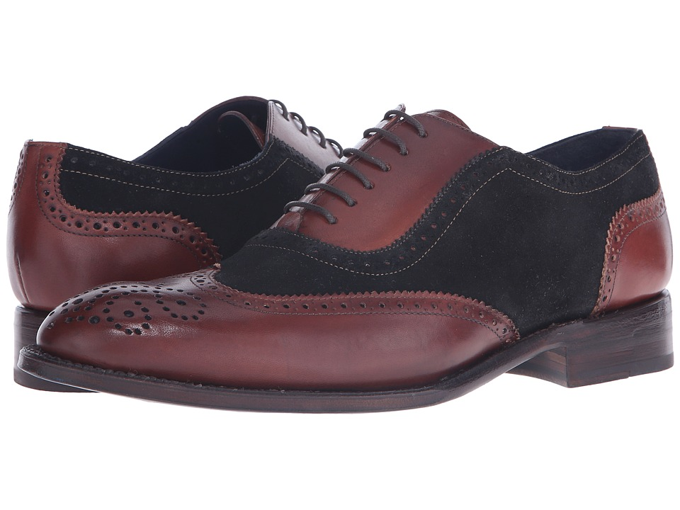 Messico Ferrucio Welt Black Suede/Cognac Leather Mens Shoes