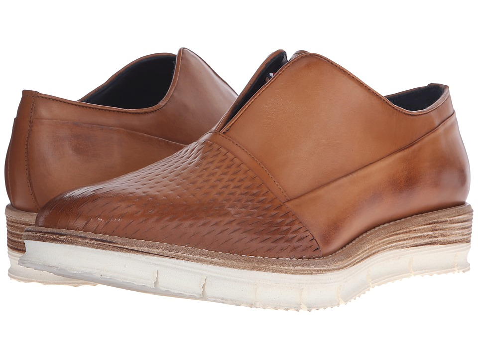 Messico Gelo Vintage Honey Leather Mens Slip on Shoes