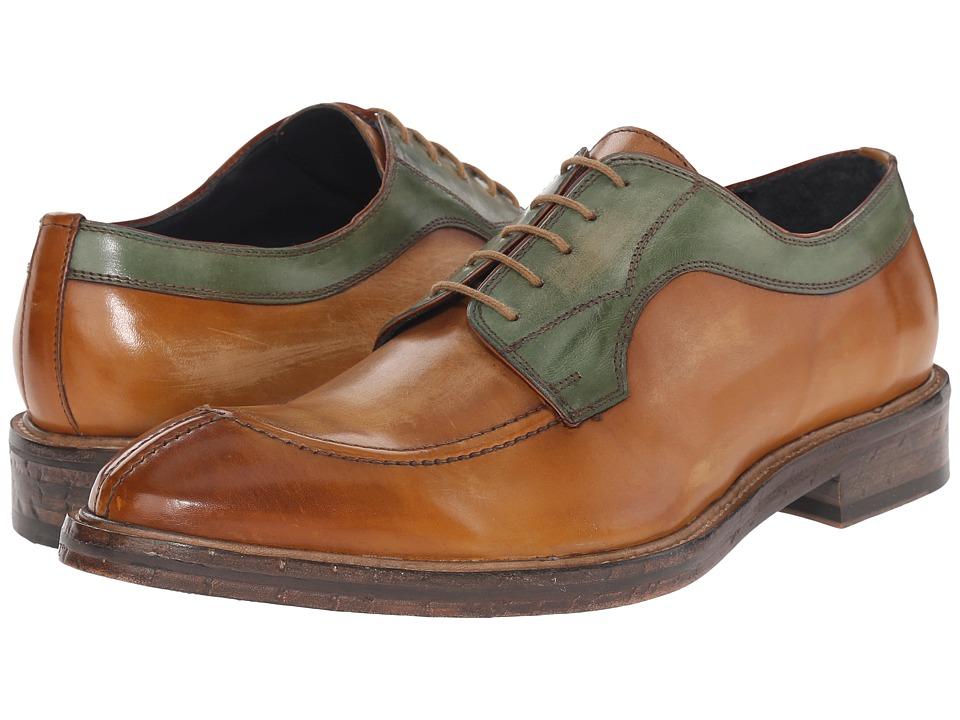Messico Fabricio Vintage Honey/Vintage Green Leather Mens Shoes