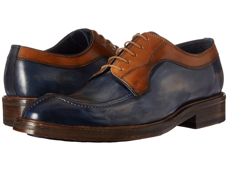 Messico Fabricio Vintage Blue/Vintage Camel Leather Mens Shoes