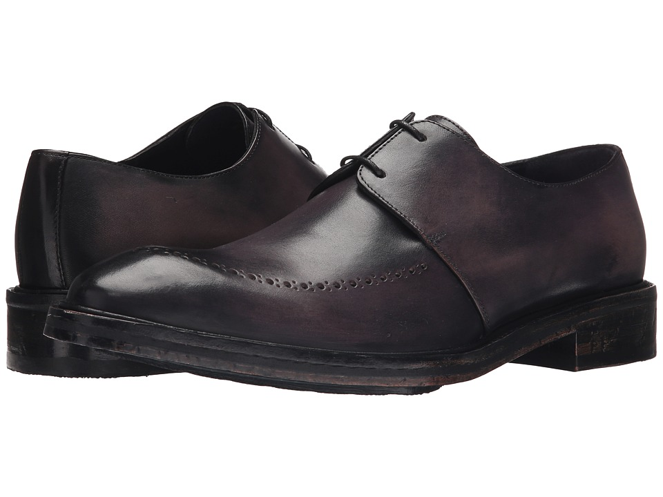Messico Edgar Vintage Grey Leather Mens Shoes