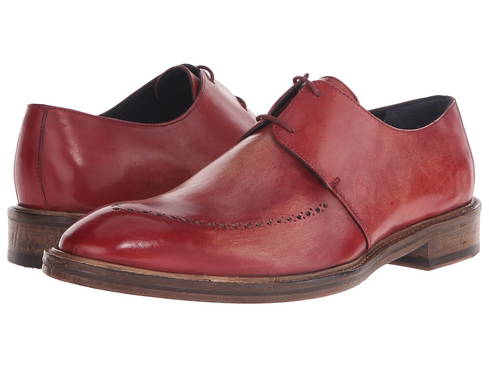 Messico Edgar Vintage Cherry Leather Mens Shoes