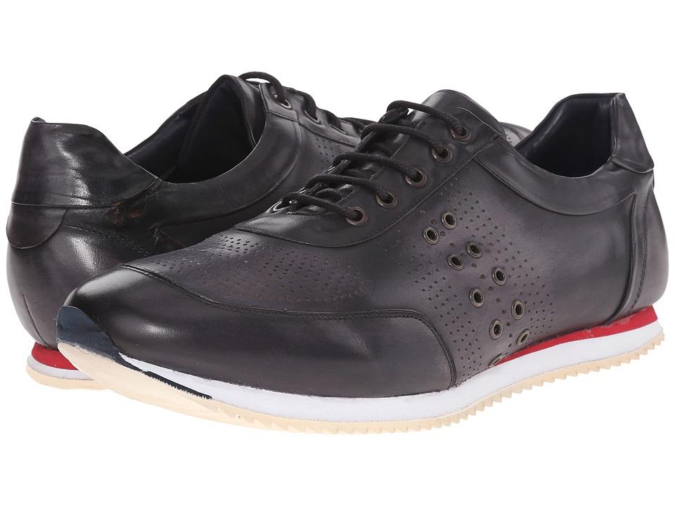 Messico Giancarlo Vintage Black Leather Mens Shoes