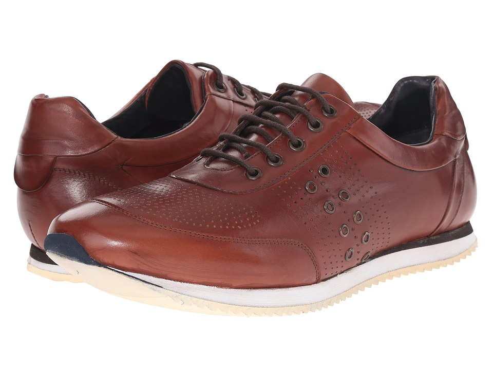 Messico Giancarlo Cognac Leather Mens Shoes