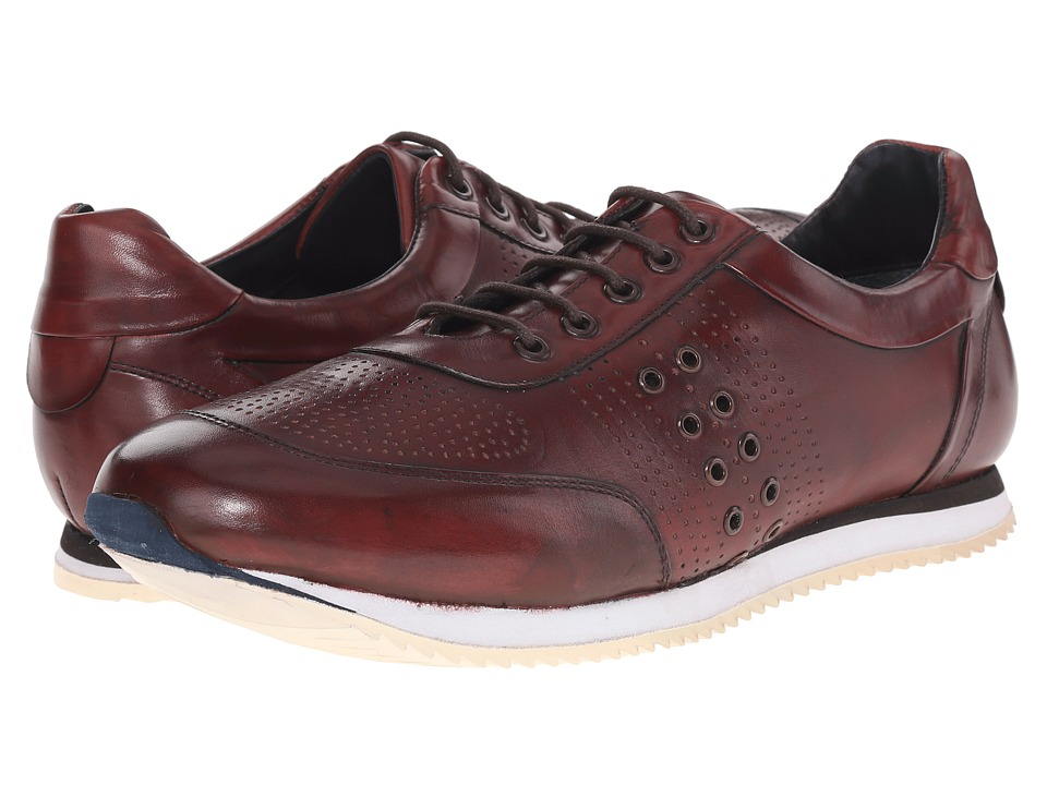 Messico Giancarlo Burgundy Leather Mens Shoes