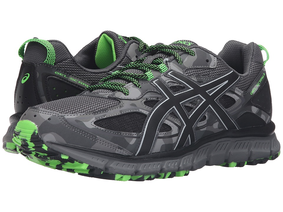 ASICS - Gel-Scram(r) 3 (Carbon/Black/Green Gecko) Mens Running Shoes