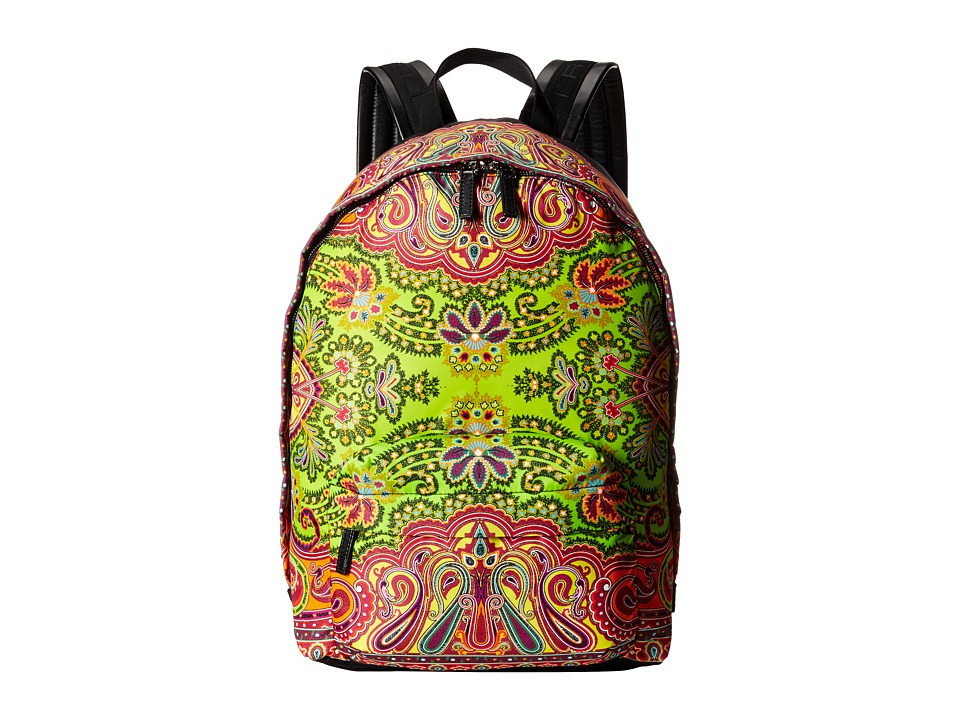 Etro 1G7772724 Yellow Paisley Backpack Bags
