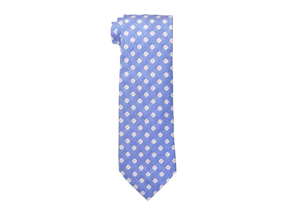 Etro Diamond Dot Pattern Regular Width Silk Tie Blue Ties