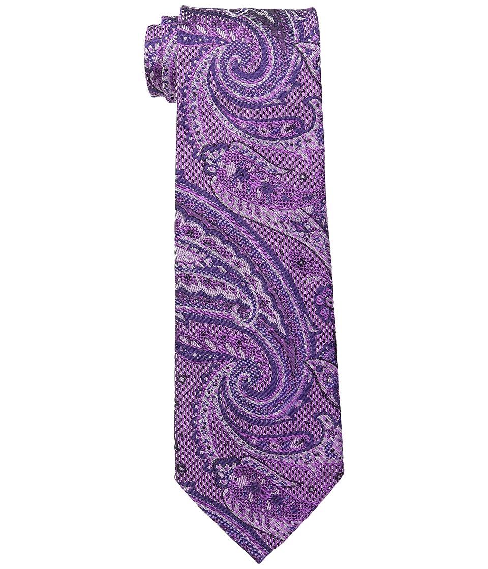 Etro 120263116 Purple Paisley Ties
