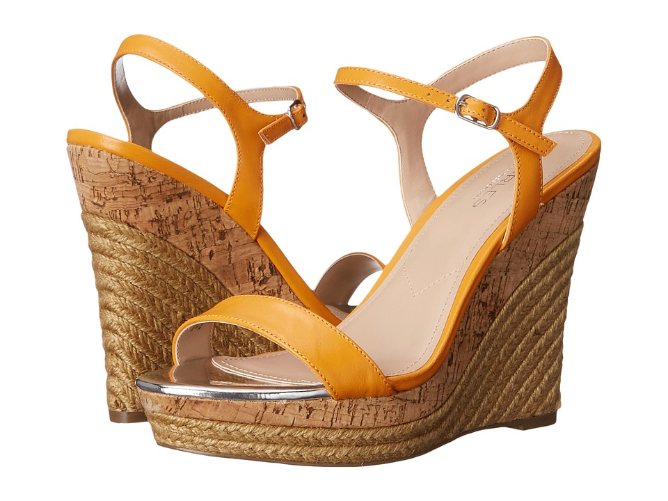 Charles by Charles David Arizona Orange Leather Womens Wedge Shoes