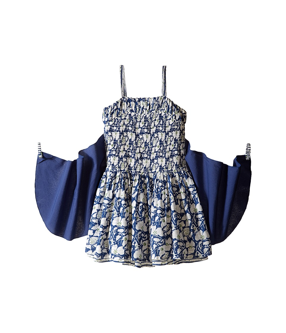 Stella McCartney Kids Bonny Floral Dress with Detachable Wings Toddler/Little Kids/Big Kids Blue Girls Dress