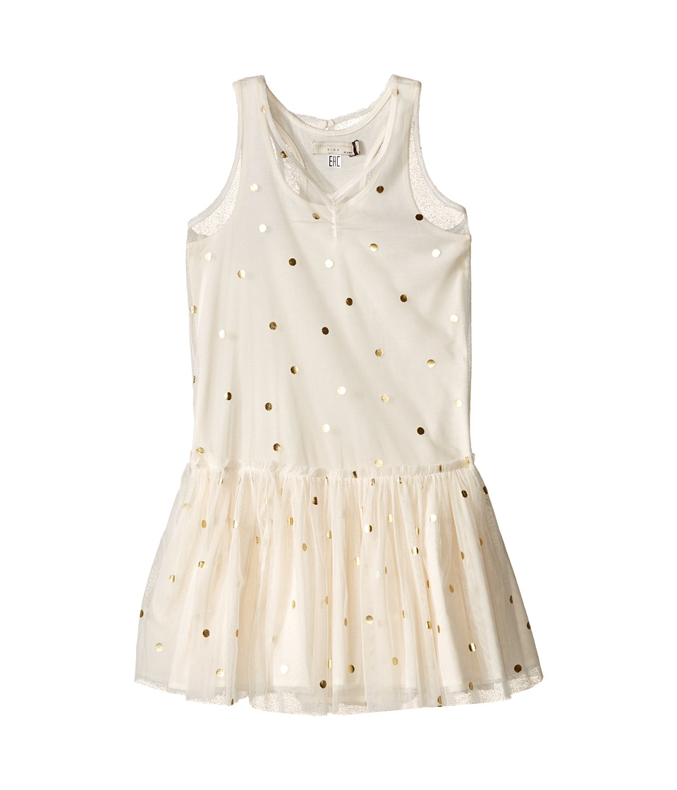 Stella McCartney Kids Bell Polka Dot Tulle Dress Toddler/Little Kids/Big Kids Cream Girls Dress
