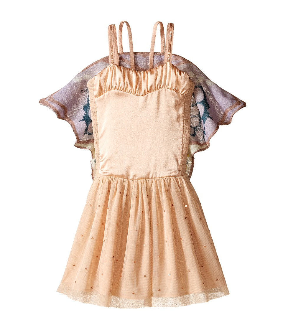 Stella McCartney Kids Bonny Dress w/ Tulle Skirt Butterfly Wings Toddler/Little Kids/Big Kids Pink Girls Dress