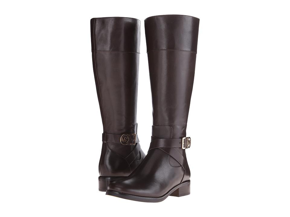 Michael Kors Bryce Tall Boot (Dark Chocolate) Women's Boots