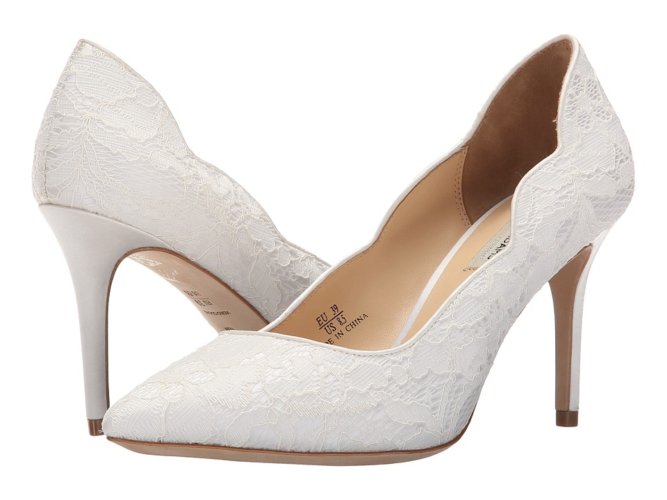 Benjamin Adams London Diana Ivory Duchesse Silk/Lace Womens Shoes