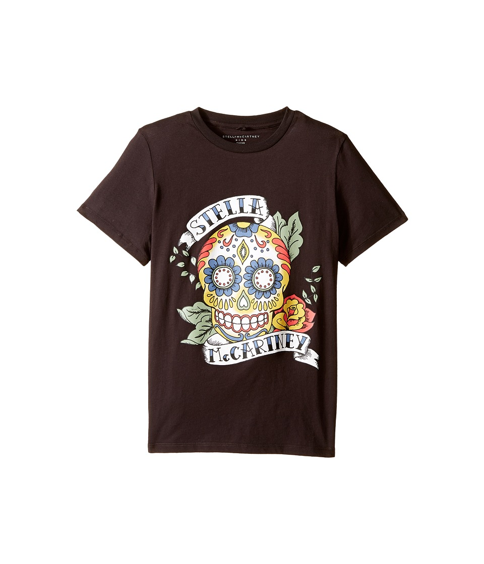 Stella McCartney Kids Arlo Short Sleeve Stella Skull Tee Toddler/Little Kids/Big Kids Charcoal Boys Short Sleeve Pullover