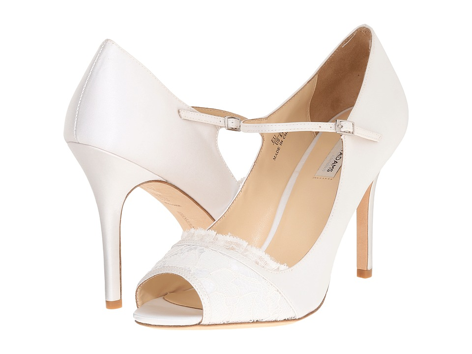 Benjamin Adams London Jemima Ivory Duchesse Silk/Lace Womens Shoes
