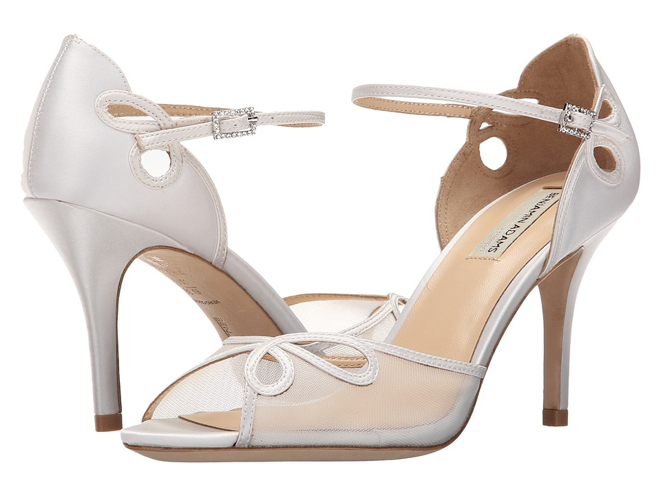 Benjamin Adams London Lola Ivory Duchesse Silk High Heels