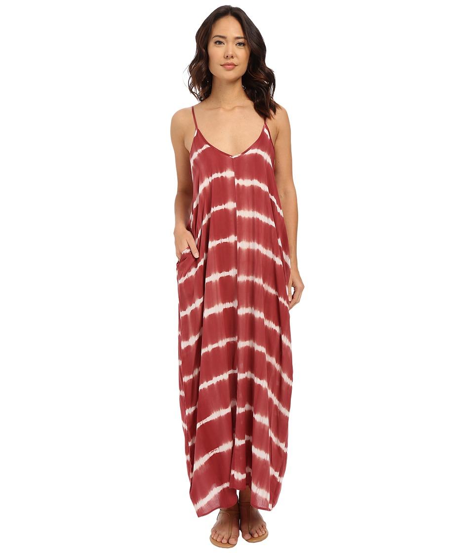 Brigitte Bailey Alvera Dress Cranberry/White Womens Dress